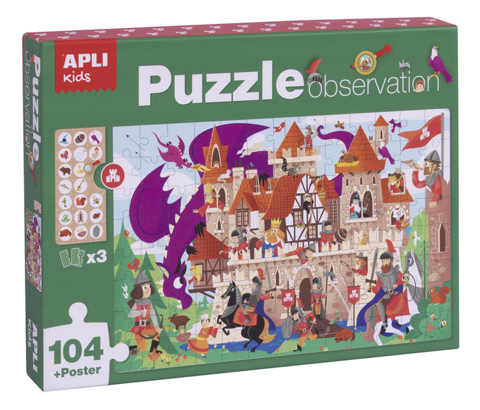Puzle observation castillo 104 piezas