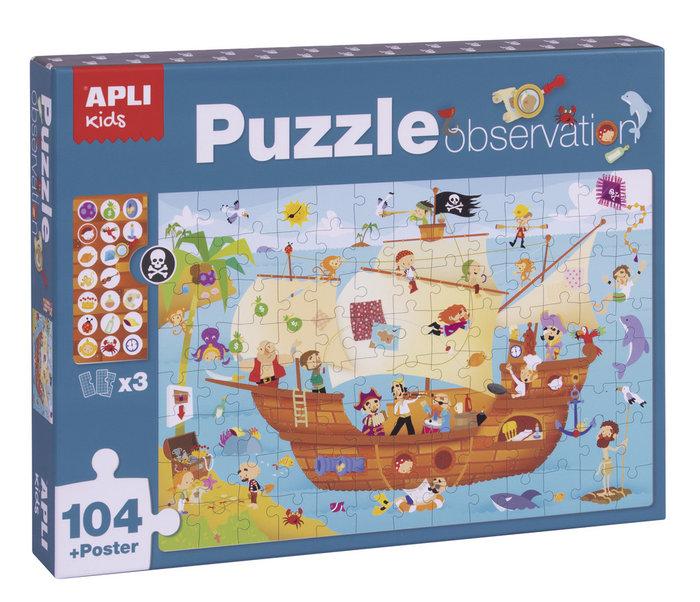 Puzle observation barco pirata 104 piezas