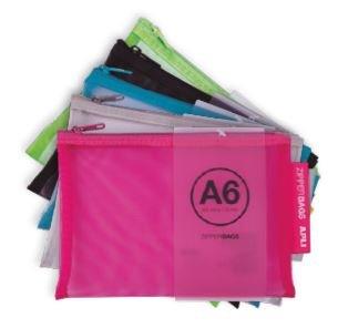 Zipper bag a6 nylon colores surtidos