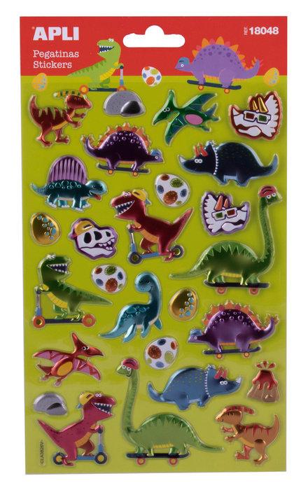 Pegatinas dinosaurios 1 hoja