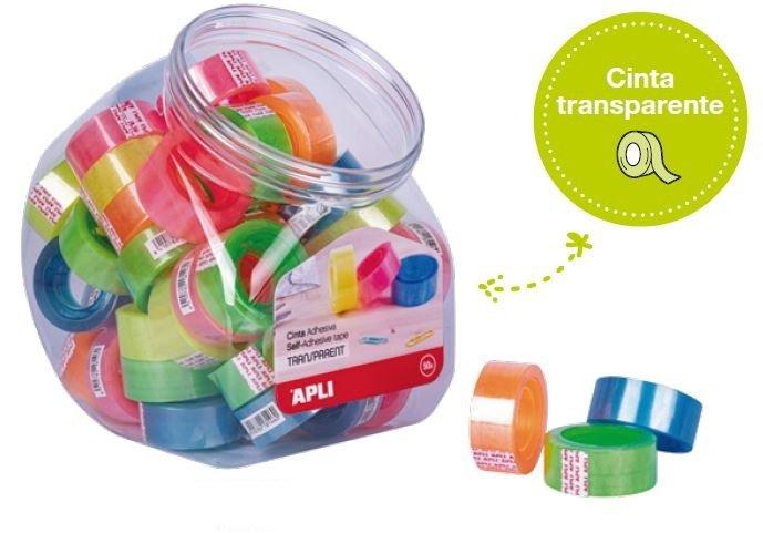 Cinta adhesiva transparente 19mmx20m fluor 50 unidades