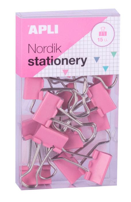 Pinzas abatibles 19mm en colores nordik 8 cajas  surtidas