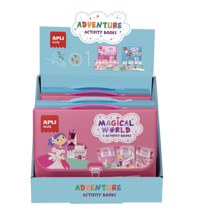Expositor adventure activity books 6 unidades surtidas