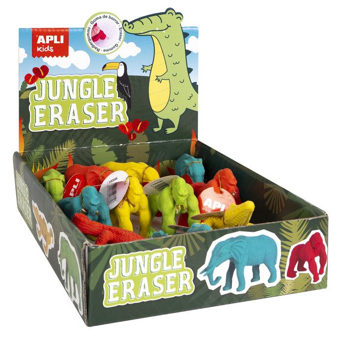 Expositor goma de borrar jungle 12 unidades