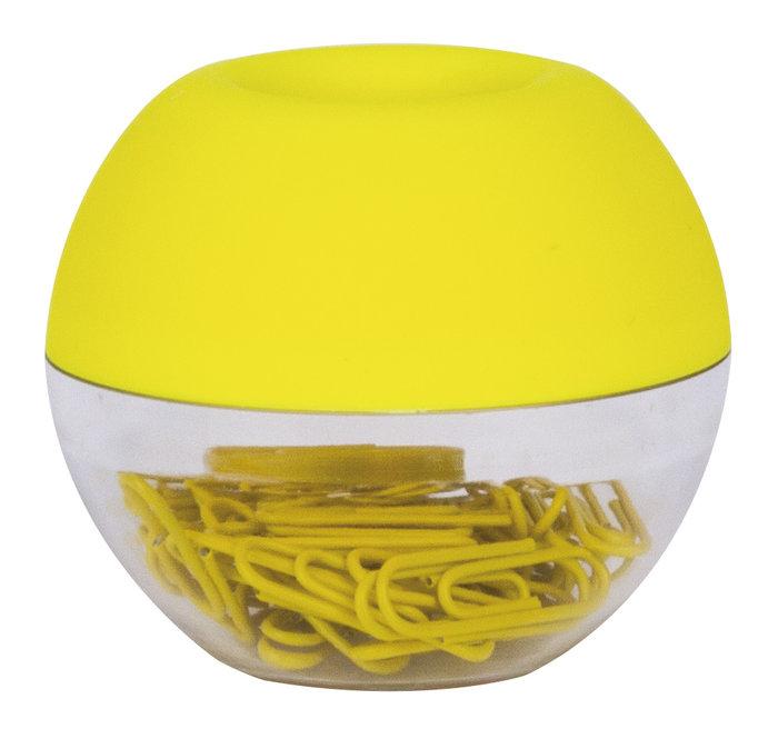 Dispensador clips fluor collection amarillo