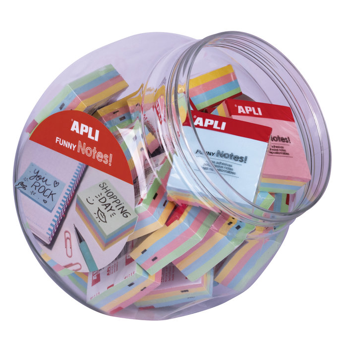 Expositor notas adhesivas mini cubos pastel 4 colores