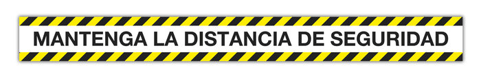 Cinta adhesiva mantenga la distancia de seguridad 100 x 10 c
