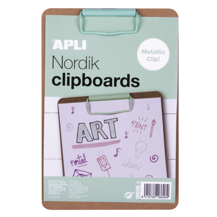 Clipboard madera a5 clip verde nordik