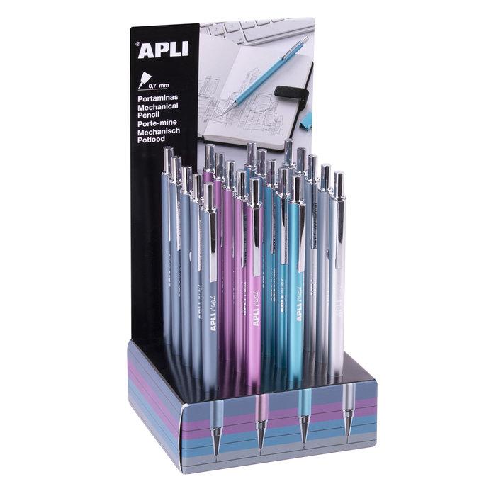 Portaminas metalicos colores surtidos  0,7 mm 20 unidades