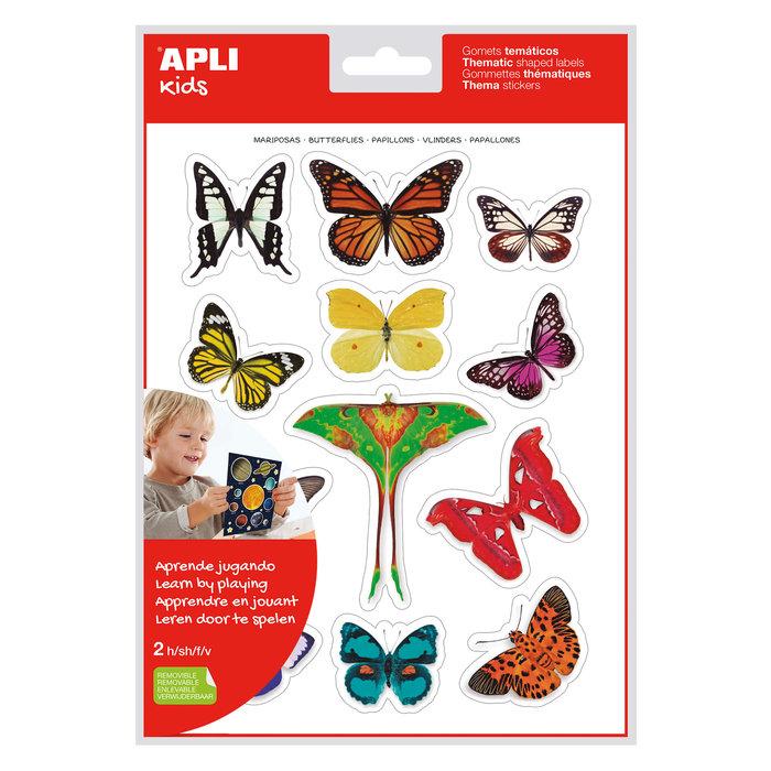 Bolsa gomets tematicos realistas mariposas 2 hojas