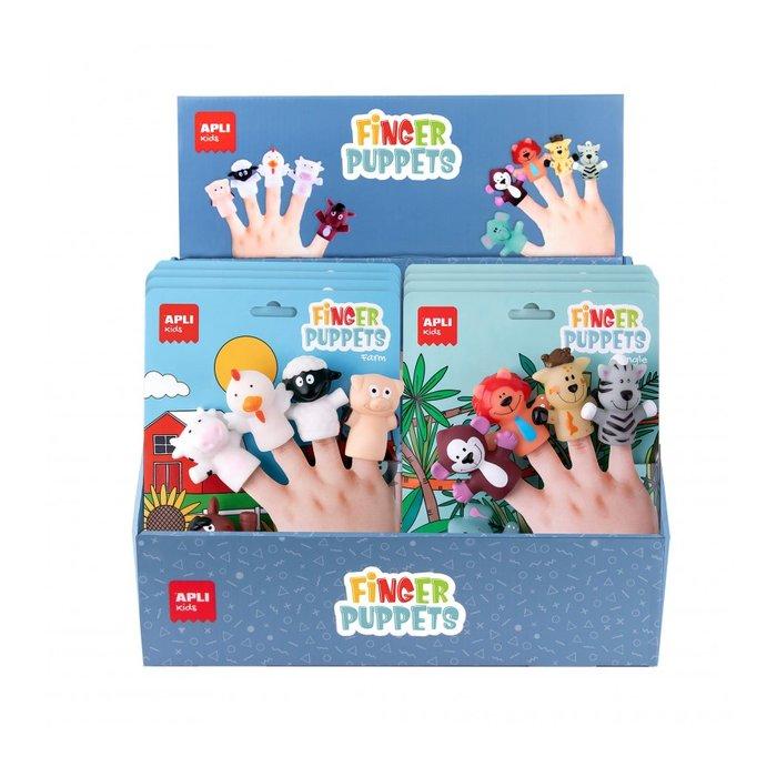 Marionetas para dedo animales 2 modelos surtidos