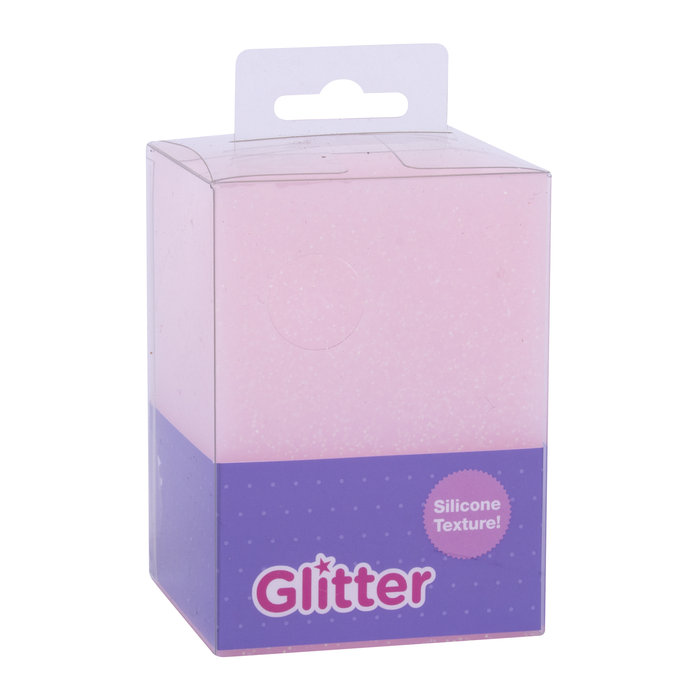 Cubilete silicona glitter collection rosa