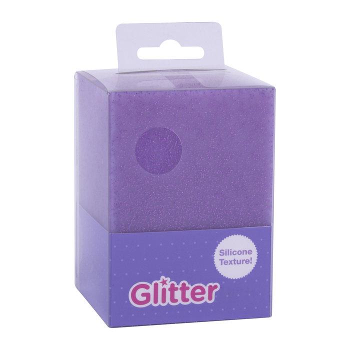 Cubilete silicona glitter collection lila