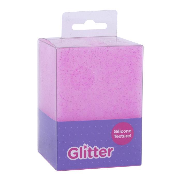 Cubilete silicona glitter collection  fucsia