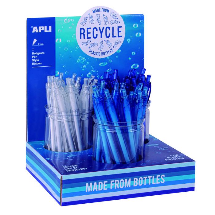 Boligrafos reciclados con botellas de plastico 36 unidades
