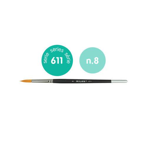 Pincel premium synthetic redondo 611 nº 8
