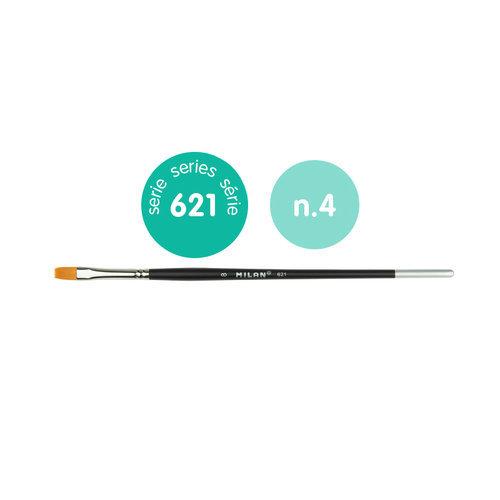 Pincel premium synthetic plano 621 nº 4