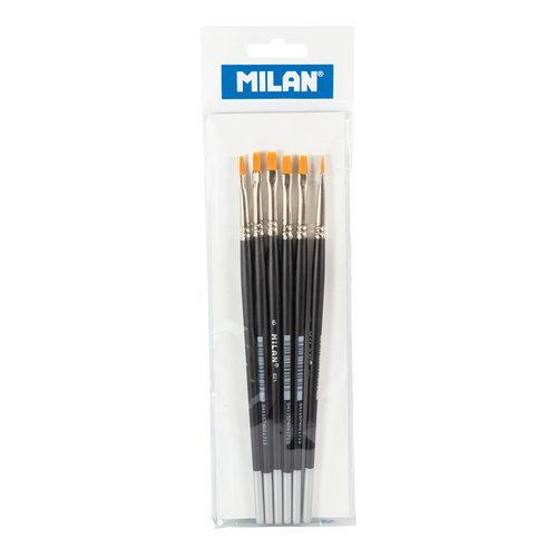 Pincel premium synthetic plano 621 nº 6