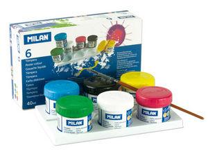 Tempera milan 40 ml 6 colores surtidos