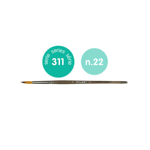 Pincel sintetico redondo serie 311 nº 22