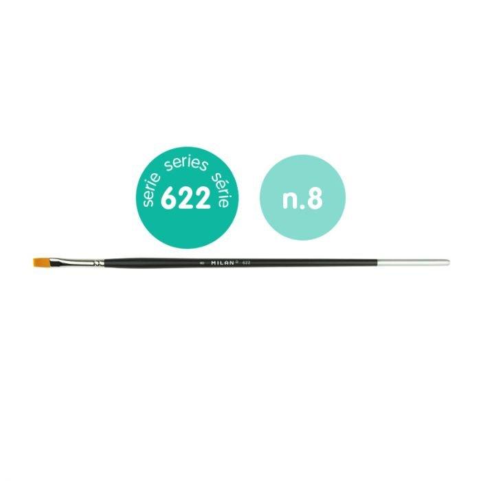 Pincel premium synthetic plano 622 nº 8