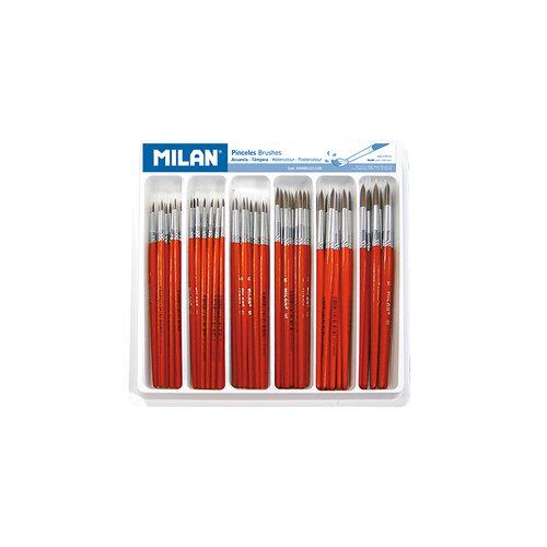 Bandeja 120 pinceles escolares redondos (serie 101)