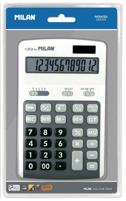 Blister calculadora gris 12 digitos teclas grandes