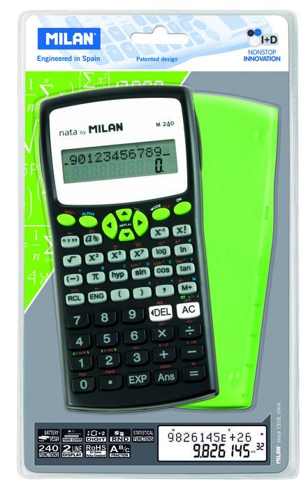 Calculadora milan cientifica verde