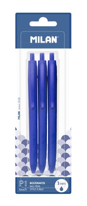 Blister 3 boligrafros p1 touch azul