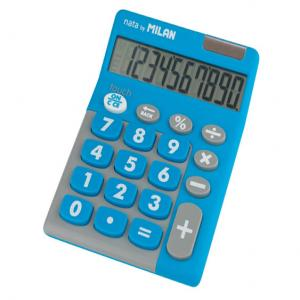 Calculadora milan touch duo 10 digitos azul