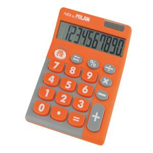 Calculadora milan touch duo 10 digitos naranja