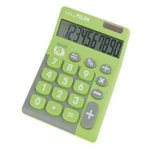 Calculadora milan touch duo 10 digitos verde