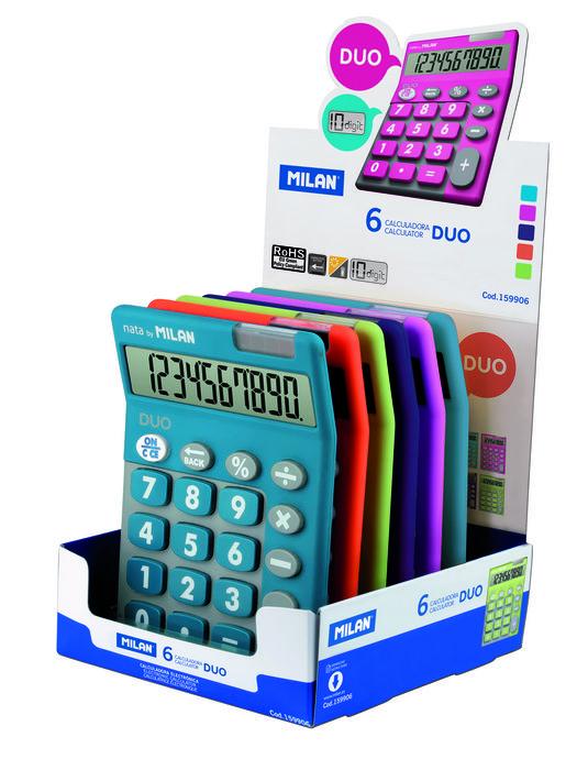 Calculadora 10 touch duo milan colores surtidos