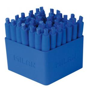 Boligrafo milan p1 mini rubber touch azul