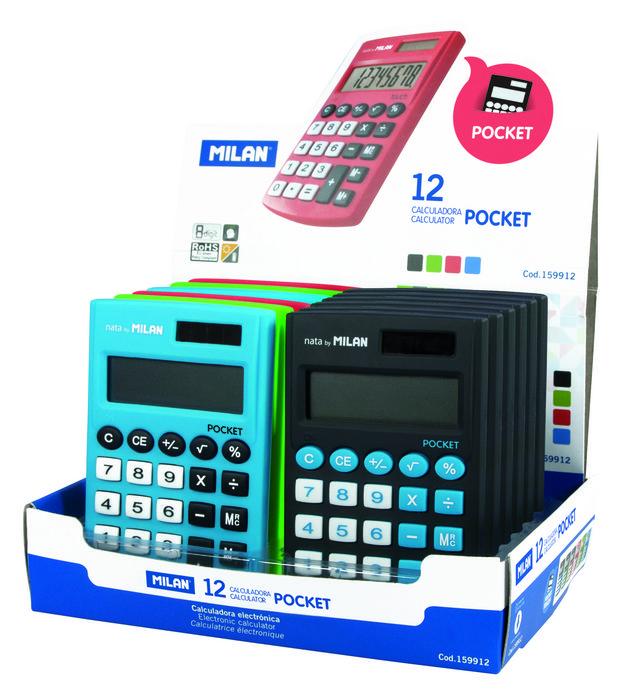 Calculadora milan pocket touch 8 digitos colores surtidos