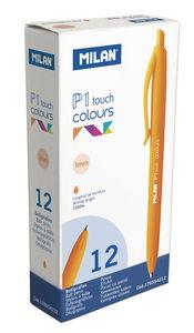 Boligrafo milan p1 touch colours naranja