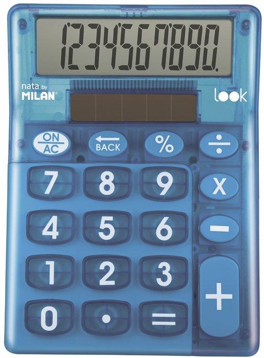 Calculadora sobremesa milan look azul 10 digitos blister