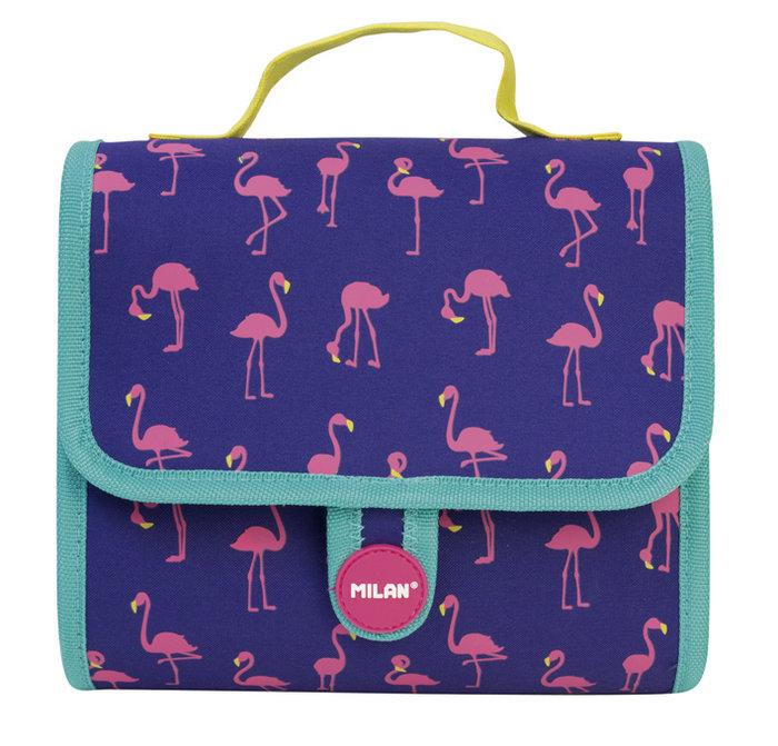 Maletin 2 estuches con contenido flamingos