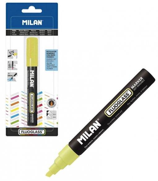 Blister fluoglass punta biselada 2 - 4 mm amarillo