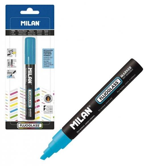 Blister fluoglass punta biselada 2 - 4 mm azul