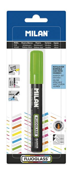 Blister fluoglass punta biselada 2 - 4 mm verde