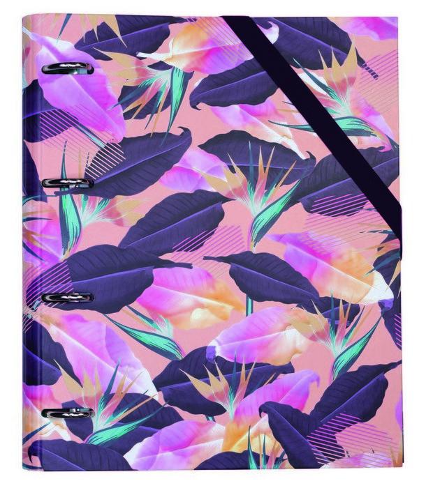 Carpeta de anillas con 100 hojas tropical