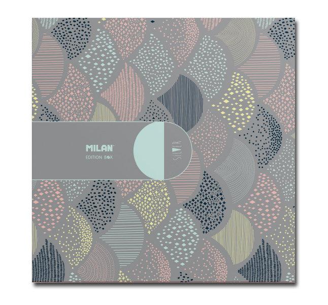 Caja regalo cuadrada contenido silver colores surtidos