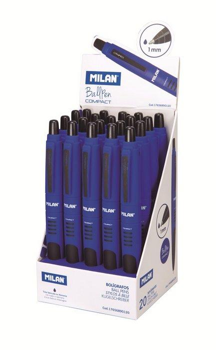 Boligrafos compact azul expositor 20 unidades