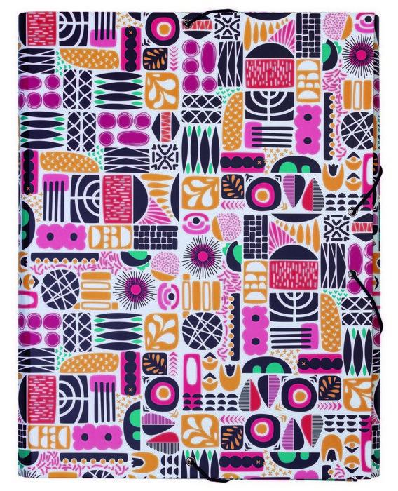 Carpeta de gomas con tapa dura shapes