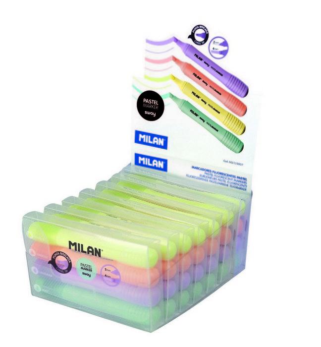 Marcadores sway pastel marker expositor 7 packs de 4 uds