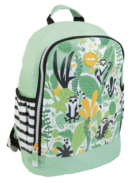 Mochila escolar pequeÑa hide & seek verde