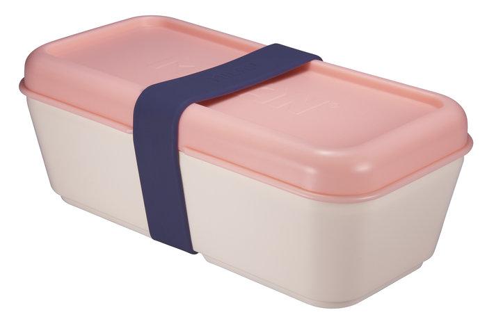 Recipiente para alimentos rectangular 0,75 l tapa rosa