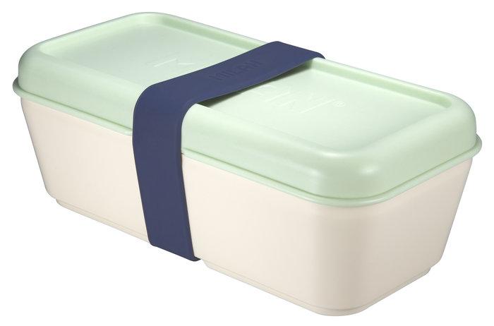 Recipiente para alimentos rectangular 0,75 l tapa verde