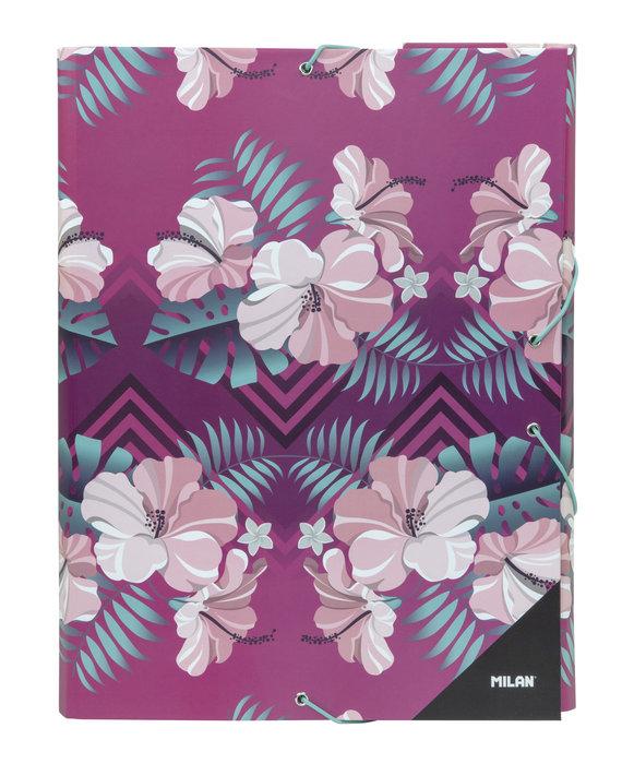 Carpeta tapa dura hibiscus